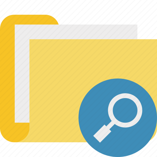 category, documents, file, folder, search icon