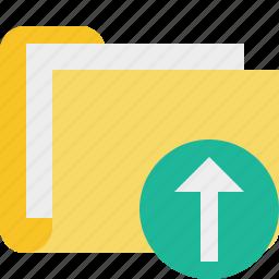 category, documents, file, folder, upload icon