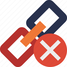 cancel, chain, connection, link, url, web icon