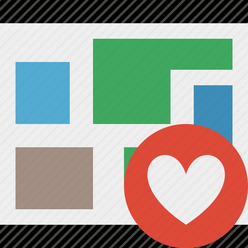 favorites, location, map, navigation, travel icon