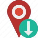 download, gps, location, map, marker, navigation, pin icon