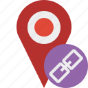 gps, link, location, map, marker, navigation, pin