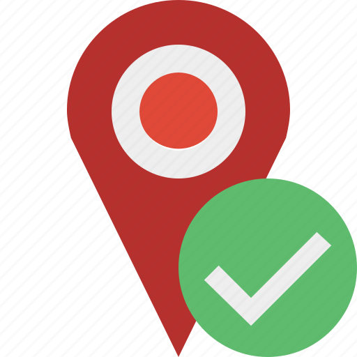 gps, location, map, marker, navigation, ok, pin icon