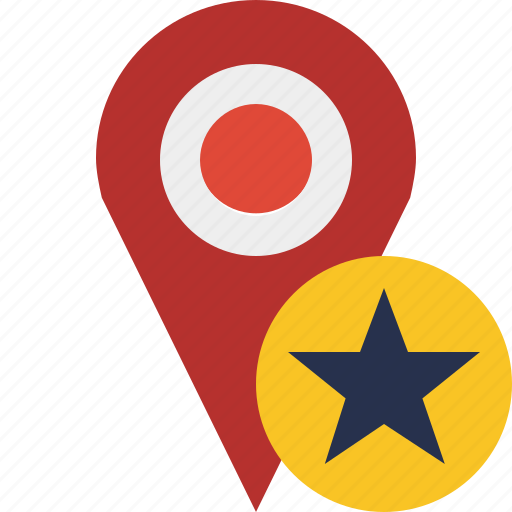 gps, location, map, marker, navigation, pin, star icon