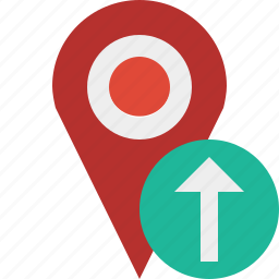 gps, location, map, marker, navigation, pin, upload icon