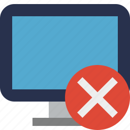 cancel, computer, desktop, display, monitor, screen icon