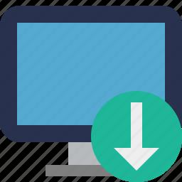computer, desktop, display, download, monitor, screen icon