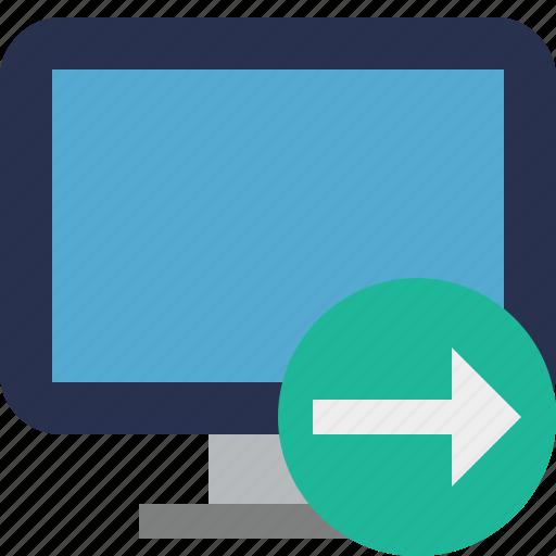 computer, desktop, display, monitor, next, screen icon