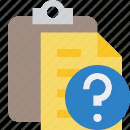clipboard, copy, help, paste, task icon