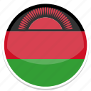 circle, flag, flags, malawi, round icon
