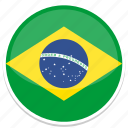 brazil, circle, flag, flags, round icon