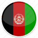afghanistan, flag, round icon