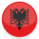 albania, flag, country, nation, world, national, flags icon