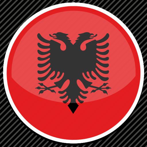 Albania Flag Round Icon Icon Search Engine - Albania flag