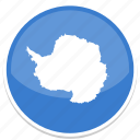 antarctica, flag, round icon
