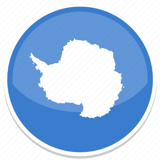antarctica, flag, round icon