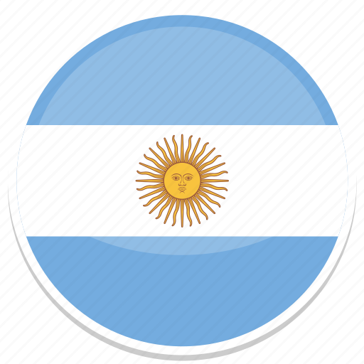 ar, argentina, circle, flag, flags, round icon