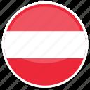 austria, flag, at, round