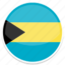 bahamas, flag, round icon