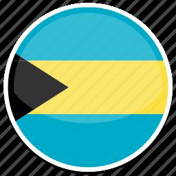 bahamas, flag, round icon