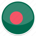 bangladesh, flag, round icon