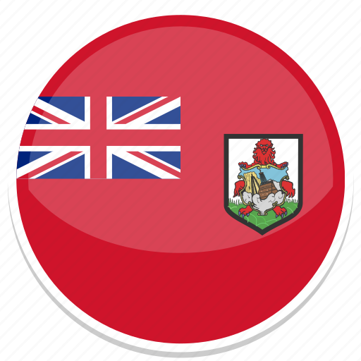 bermuda, flag, round icon