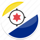 bonaire, flag, round icon