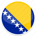 bosnian, flag, nation, national, country, world, flags