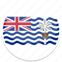 territory, indian, british, ocean, flag icon