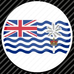 british, flag, indian, ocean, territory icon
