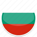 bulgaria, flag, round icon
