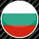 bulgaria, flag, round