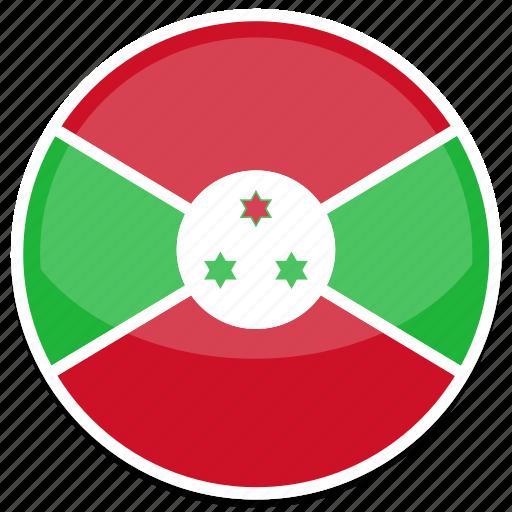 burundi, flag, round icon