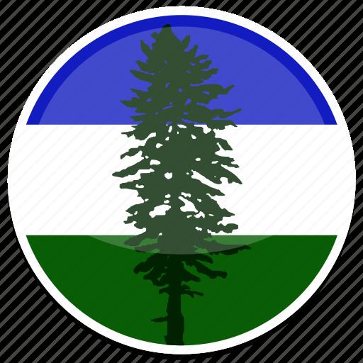 cascadia, flag, round icon