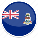 cayman, flag, islands, round icon