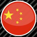 round, china, flag, chinese