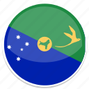 christmas, flag, island, round icon