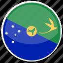 flag, round, island, christmas
