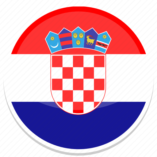 croatian, flag, round icon