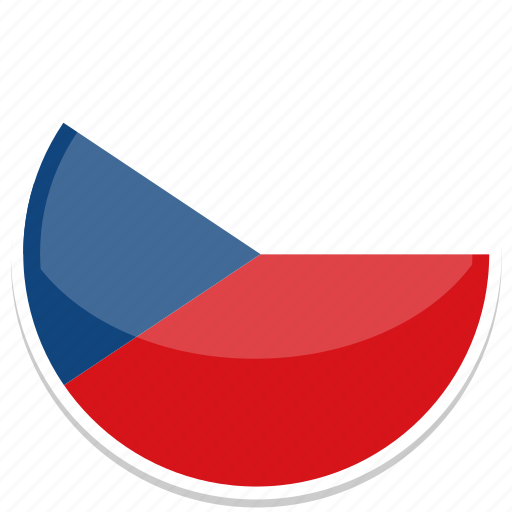 czech, flag, republic, round icon