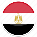 egypt, flag, round icon
