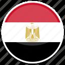 egypt, flag, round