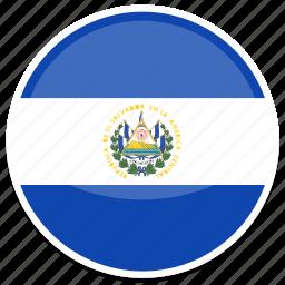 el, flag, round, salvador icon