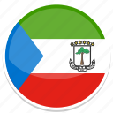 equatorial, flag, guinea, round icon