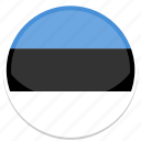 estonia, flag, round icon