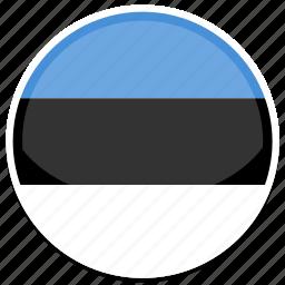 estonia, flag, round icon