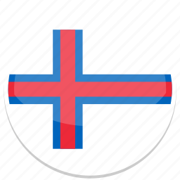 circle, faroe, flag, flags, islands, round icon