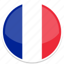 france, circle, flags, flag, country, nation, world