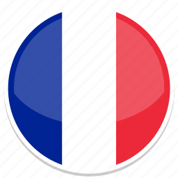 circle, flag, flags, france, round icon