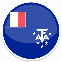 circle, flag, flags, french, round, southern icon